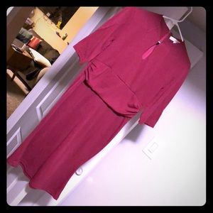 Vintage-style Plum color dress, fitted & made well